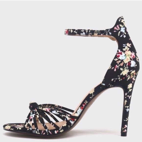 Nwt Floral Strappy Heels